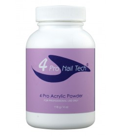 4Pro Nail Tech Acrylic Powder 4oz Clear