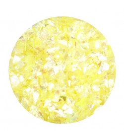 Glitter Flake - yellow opalescent