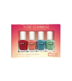 Color Club mini Nail Lacquer Ticket To Paradise Collection 4pcs