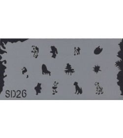 Szablon do pistoletu Airbrush Stencil SD26
